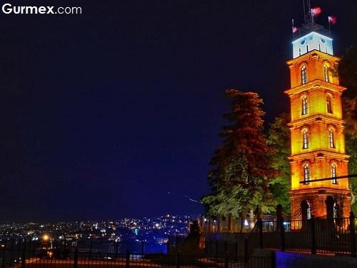 Bursa Tarihi Mekanlar,Bursada gezilecek tarihi yerler Tophane parkı ve saat kulesi